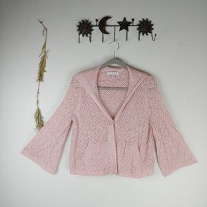 CABI Pink Bell Sleeve Cardigan Style #918
